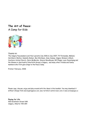 The Art of Peace: A Camp for Kids - Carolyn Pogue