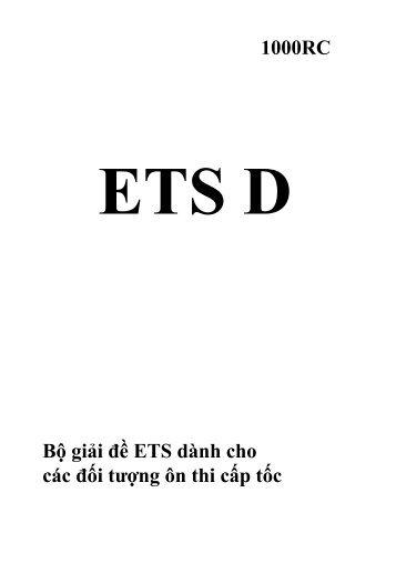 Lời giải ETS D - PART 56 - Dành cho các khóa ôn thi TOEIC cấp tốc 2010-2011 - Biên soạn GV Kasan