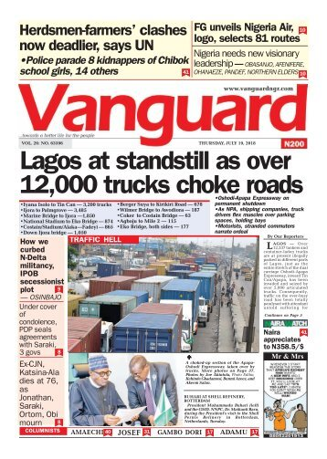 19072018 - Lagos at standstill as over 12,000 trucks choke roads
