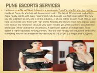 HiFi Female Model In Pune Escorts   Geetkulkarni.com