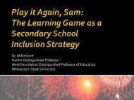Play it Again, Sam: The Learning Game as a Secondary School ...