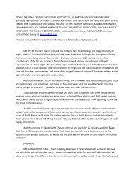 Transcript - Air Force Association