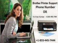 Remove Document Stuck in Brother Printer Queue; Call +1-833-445-7444 Brother Printer Customer Support Service