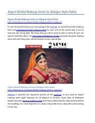 Expert Bridal Makeup Artist in Udaipur Stylo Salon