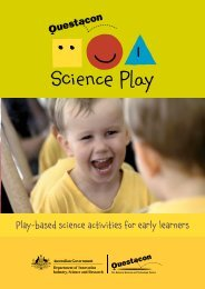 Play-based science activities for early learners - Questacon Science ...