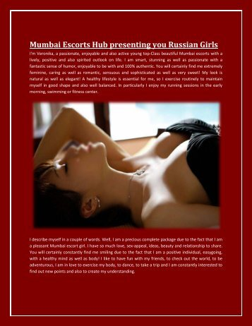 Mumbai Escorts Hub presenting you Russian Girls