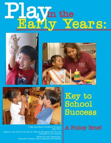 Play in the Early Years - Bay Area Early Childhood Funders