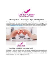 Infertility Clinic - Choosing the Right Infertility Clinic