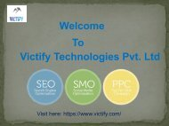 SEO,SMO,PPC Services in Noida  Victify Technology