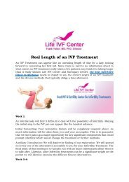 Real Length of an IVF Treatment