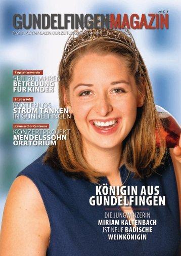 Gundelfingen Magazin (Juli 2018)