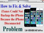 Call +1-800-608-5461 To Fix  iPhone Disconnected Error During Backup or Restore