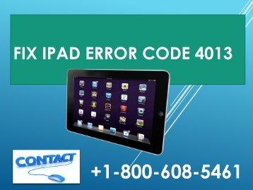Fix ipad Error Code 4013