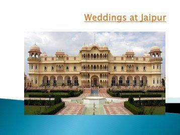 Weddings at Jaipur