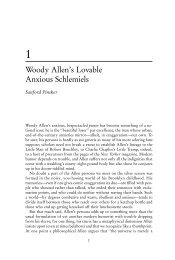 Woody Allen's Lovable Anxious Schlemiels - Scarecrow Press