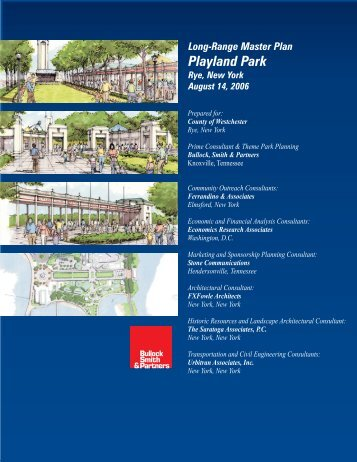 Long-Range Master Plan Playland Park - Westchester County