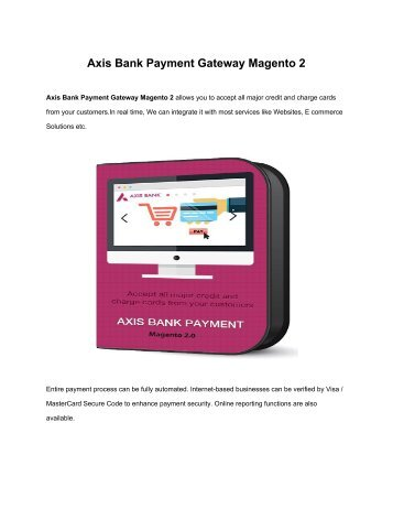 Axis Bank Payment Gateway Magento 2