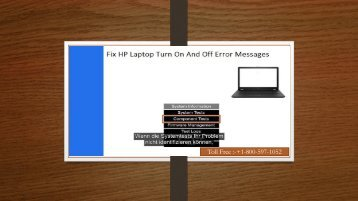 +1 800-597-1052 Fix HP Laptop Turn On And Off Error Messages