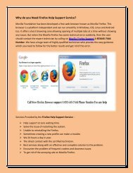Why do you Need Firefox Help Support Service call 1-833-445-7444 Number