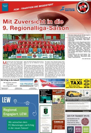 FC Memmingen stellt seine Mannschaft vor