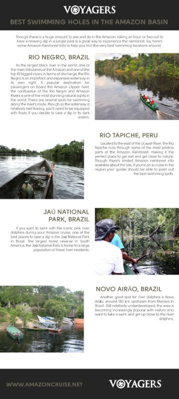 Best swimming holes in the Amazon basin