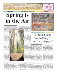 Spring is in the Air - Age Play Times