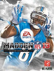 Madden NFL 13 Connected Careers manual - Electronic Arts
