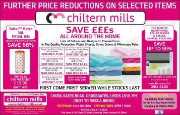 Chiltern Mills Further Reductions