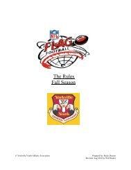 YYAA Flag Football Rules - Yorkville Youth Athletic Association