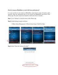 How do I setup my MediaShare to work with Sonos audio ... - Verbatim