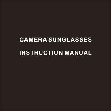 Xonix Camera Sunglasses manual