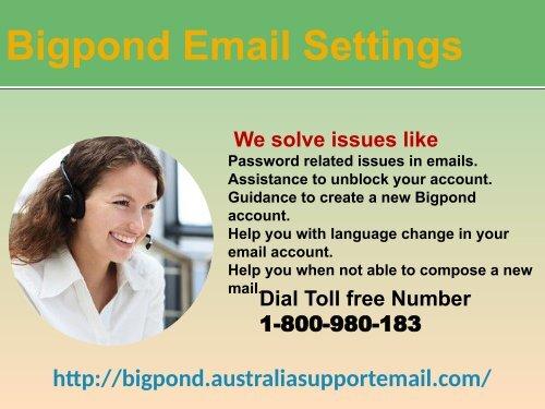 Bigpond Email Settingsjuly19