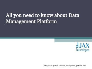all you need to know about data management platform