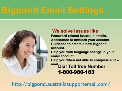 Do You Have Requirement For Bigpond Email Settings? Dial Now 1-800-980-183