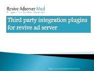 what are the third party integration plugins for revive ad server