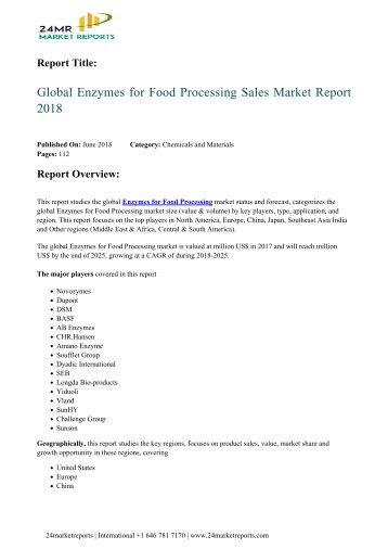 global-enzymes-for-food-processing-sales-market-report-2018-24marketreports