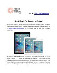 Rent iPads for Events
