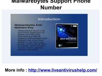 Malwarebytes Support Phone Number