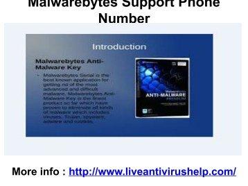 Malwarebytes Support Phone Number