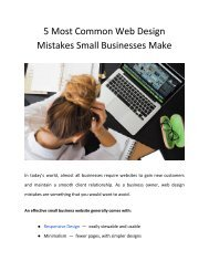 5 Most Common Web Design Mistakes Small Businesses Make