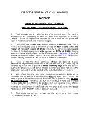 NOTICE - Directorate General of Civil Aviation