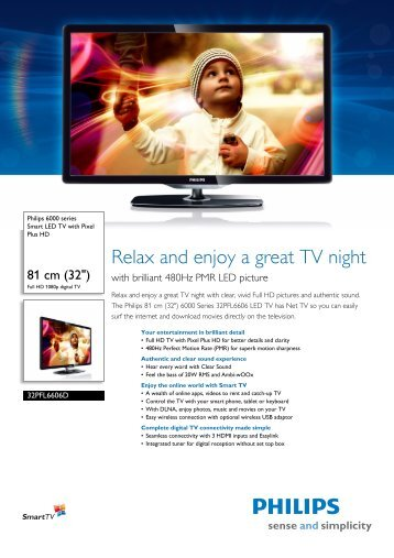 Philips 40PFL6606D/78 LED TV Driver for PC