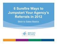 6 Surefire Ways to Jumpstart Your Agency's Referrals in 2012