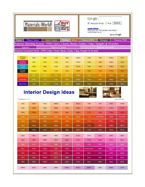 Pantone Matching System Pms Colors Charts Csanlorenzo