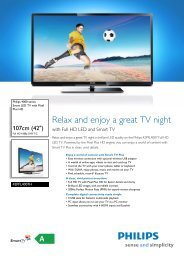 42PFL4007H/12 Philips Smart LED TV with Pixel Plus HD - Crambo