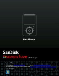 User Manual - SanDisk Technical Support
