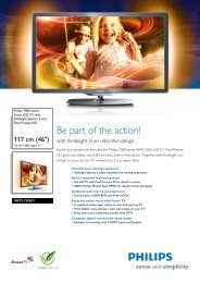 46PFL7606D/78 Philips Smart LED TV with Ambilight Spectra 2 and ...