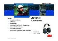 Lite-Com III Kurzreferenz - Schweiz 3M Shop