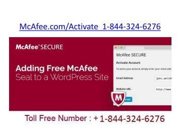McAfee LiveSafe | 1-844-324-6276 | Mcafee.com/Activate