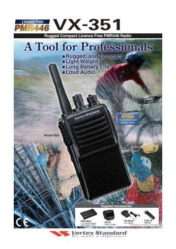 Vertex Standard VX-351 PMR446 Handfunkgerät